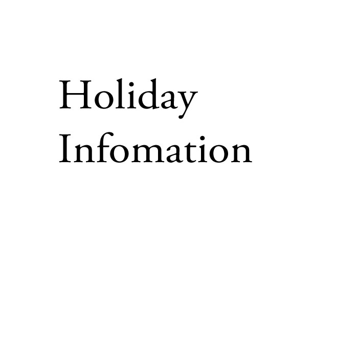 holidayinfomation